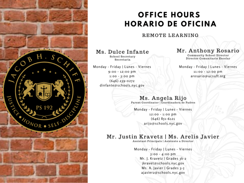 image with office hours for parents