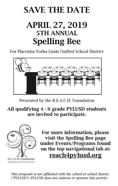 spelling bee info attached