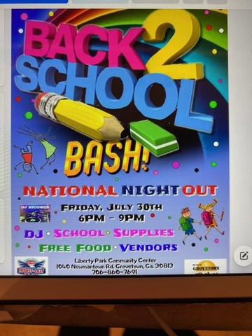 Back to School Bash July 30 Featured Photo