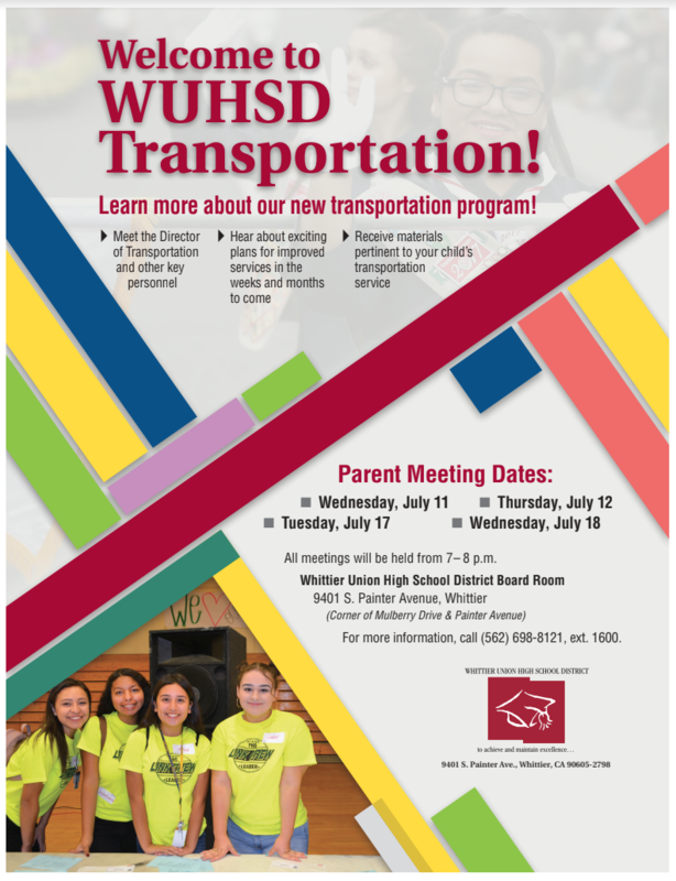 WUHSD Transportation Featured Photo