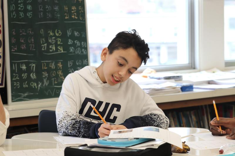 Student working on homework