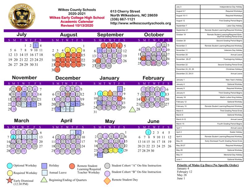 WECHS Calendar