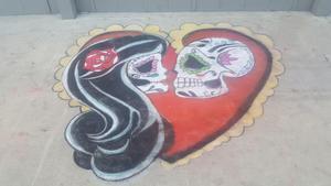 """""""sugar skulls in love"""" ."""