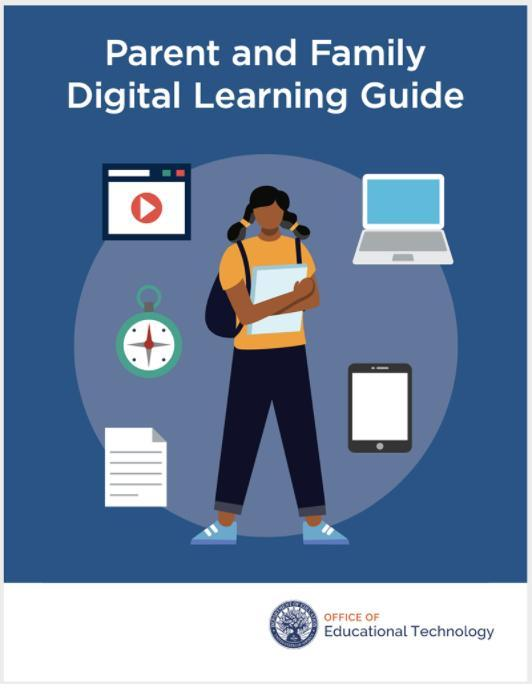 "Your involvement in your child's education can lead to better learning results and outcomes. This ""Parent and Family Digital Learning Guide"" will inform you, as a parent or caregiver, as you monitor your child's progress as your child accesses and uses technology for learning."