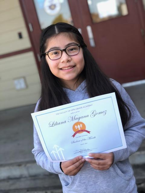 OMS 5GA March 2021 Student of the Month