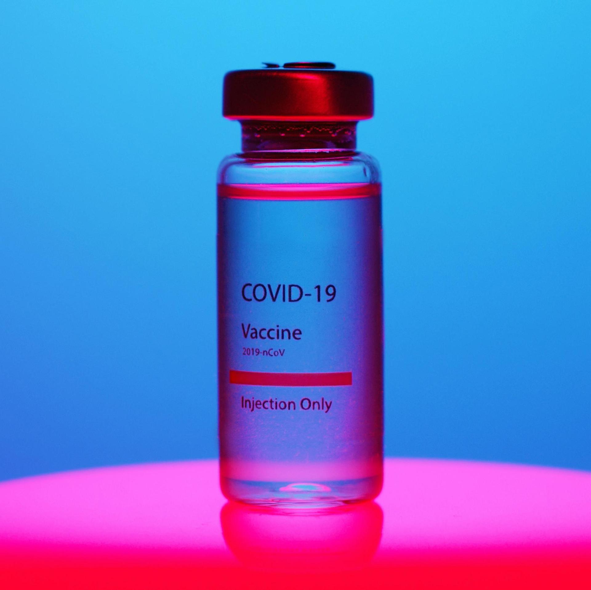 sample vial of vaccine
