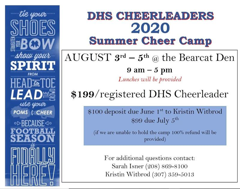 Image of 2020 Cheer Camp invite