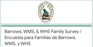Barrows, WMS, & WHS Family Survey: How are our families feeling about reopening fully in-person? Thumbnail Image