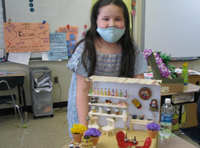 2nd Grade Students Showcase their Culture Float Creations