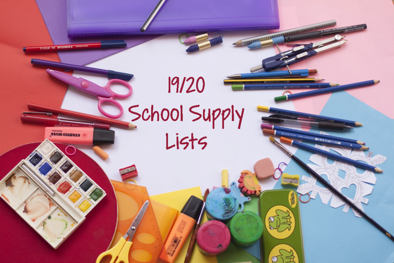 2019/2020 School Supply Lists Thumbnail Image