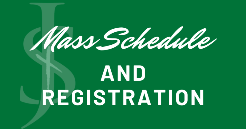 Mass Schedule and Registration