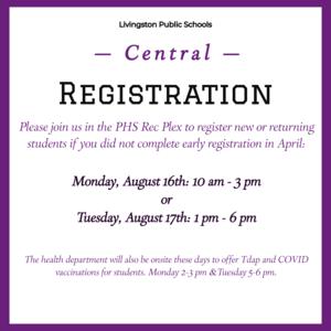 Central Registration Flyer