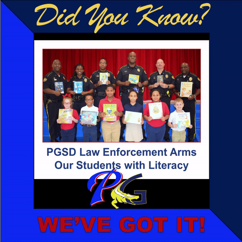 Did you know PGSD law enforcement arms ours students with literacy
