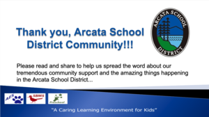 Thank you, Arcata School District Community!