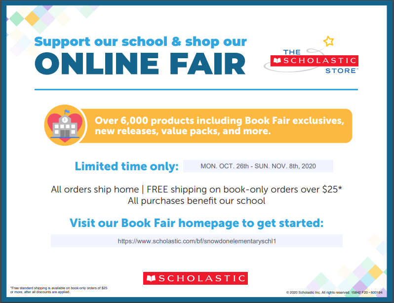 Snowdon's Virtual Scholastic Book Fair Thumbnail Image