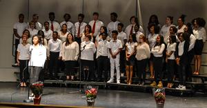 Choir performing in Winter Concert
