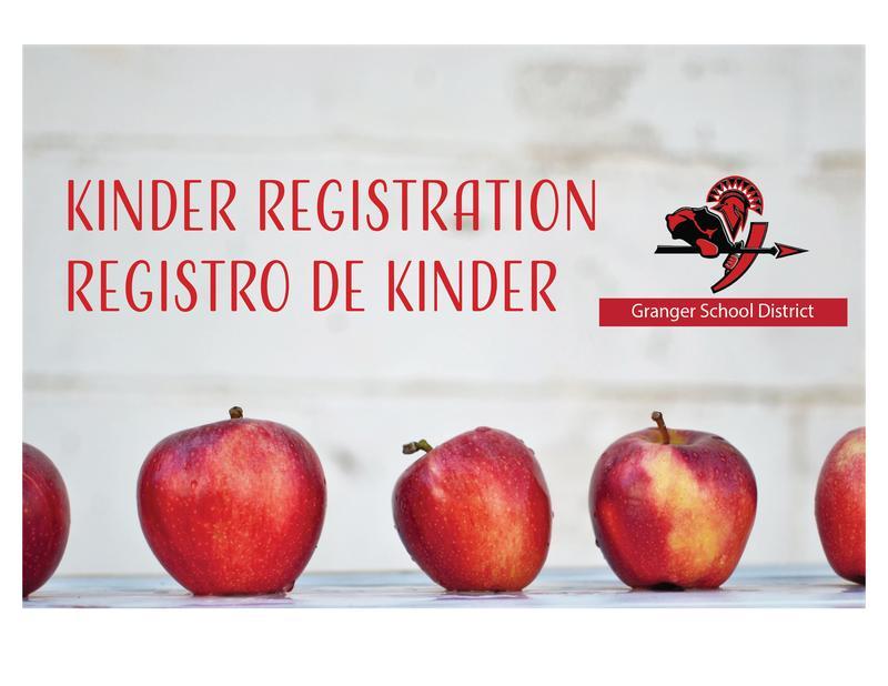 Photo of information for Kinder registration