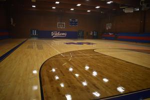 wood floor of gym