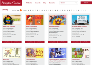 storyline online has over 50 books available to be read to children and adults