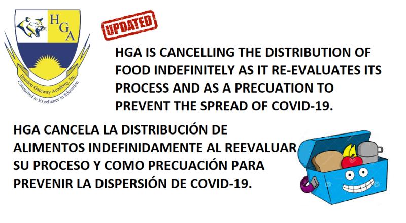HGA Cancels meal distribution