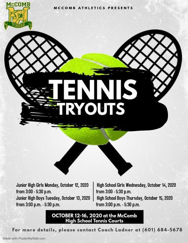McComb High School Tennis News 2020