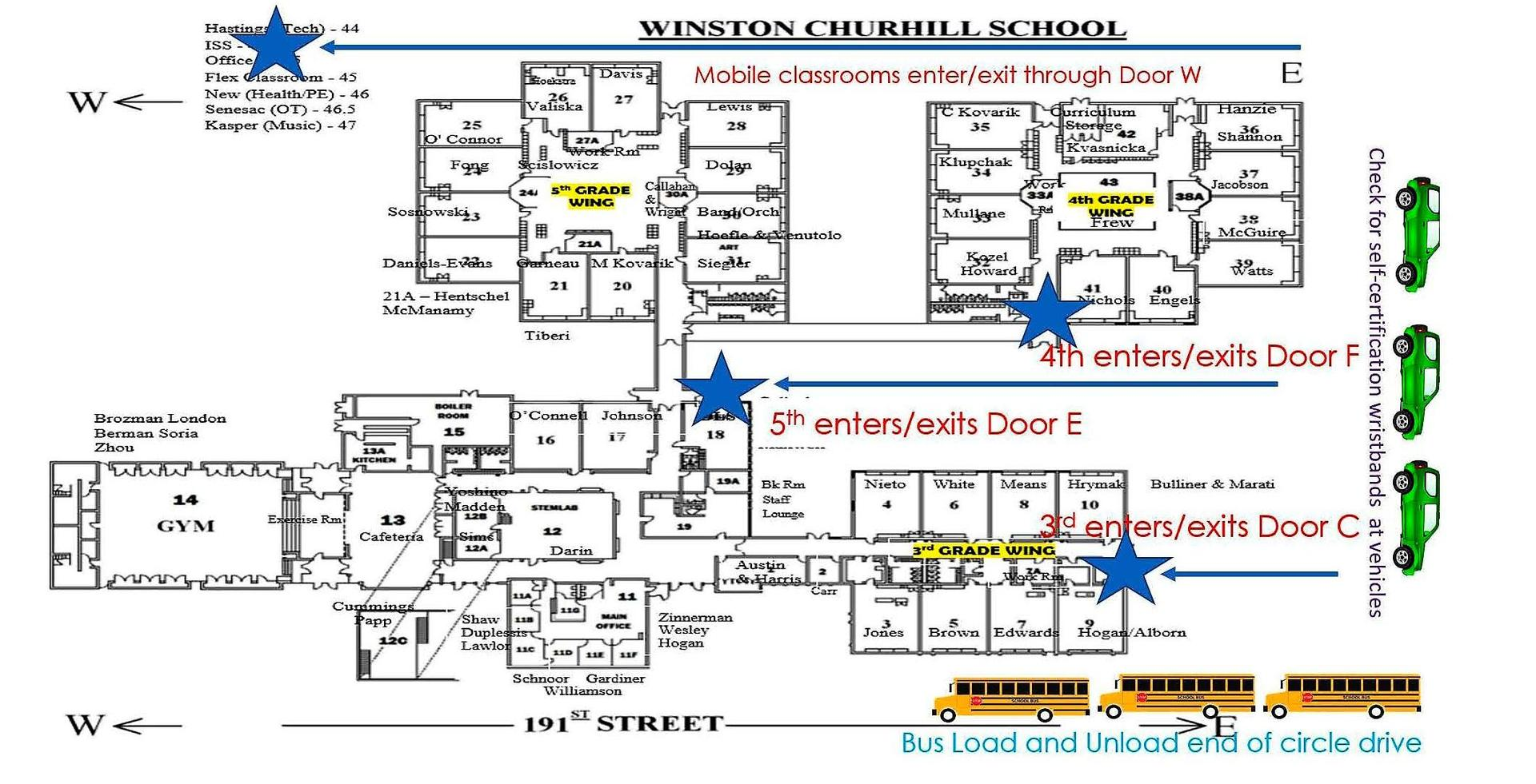 entry and exit map