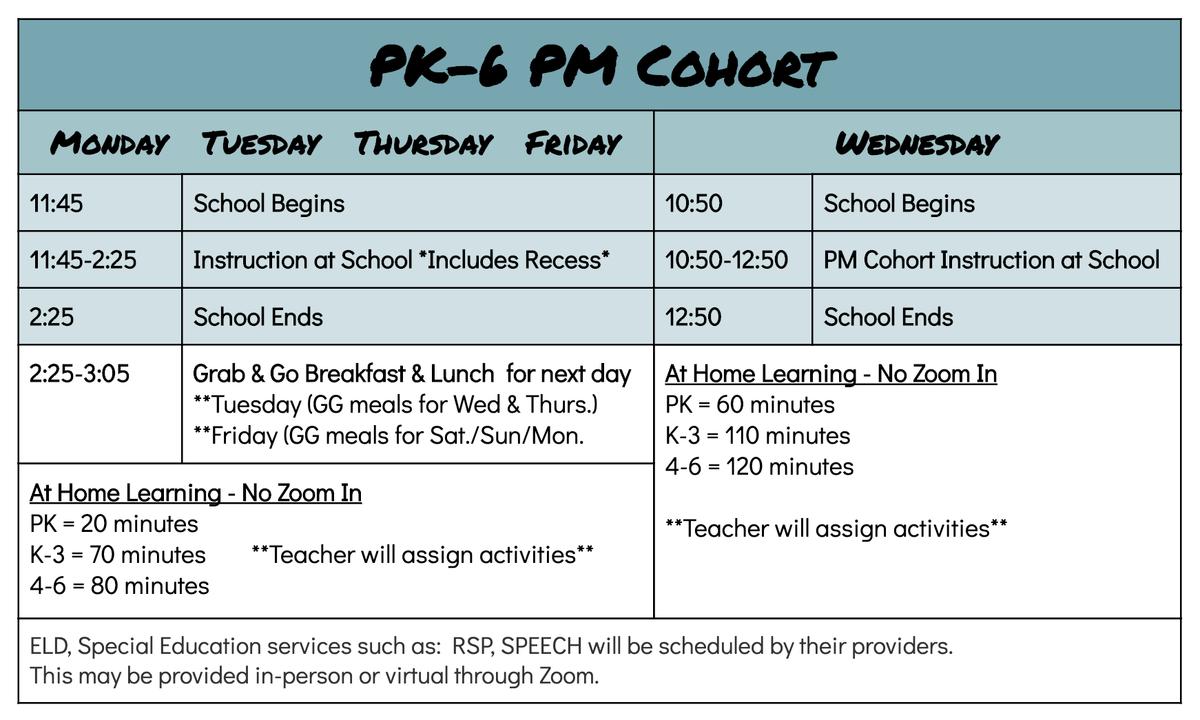 PM Schedule.