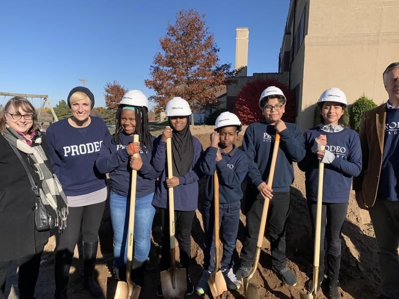 children at groundbreaking ceremony