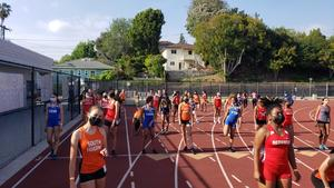 high schoolers at Pasadena Games Track Meet