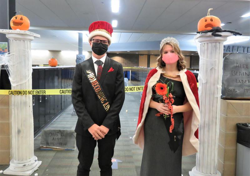 TKHS Homecoming King and Queen Jackson LaJoye and Lila Nelson were crowned today.