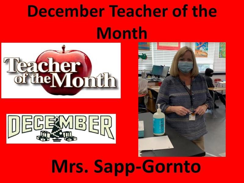 Mrs. Sapp-Gornto Selected December Teacher of the Month Featured Photo