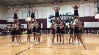 WBJH Cheerleaders perform at Pep Rally