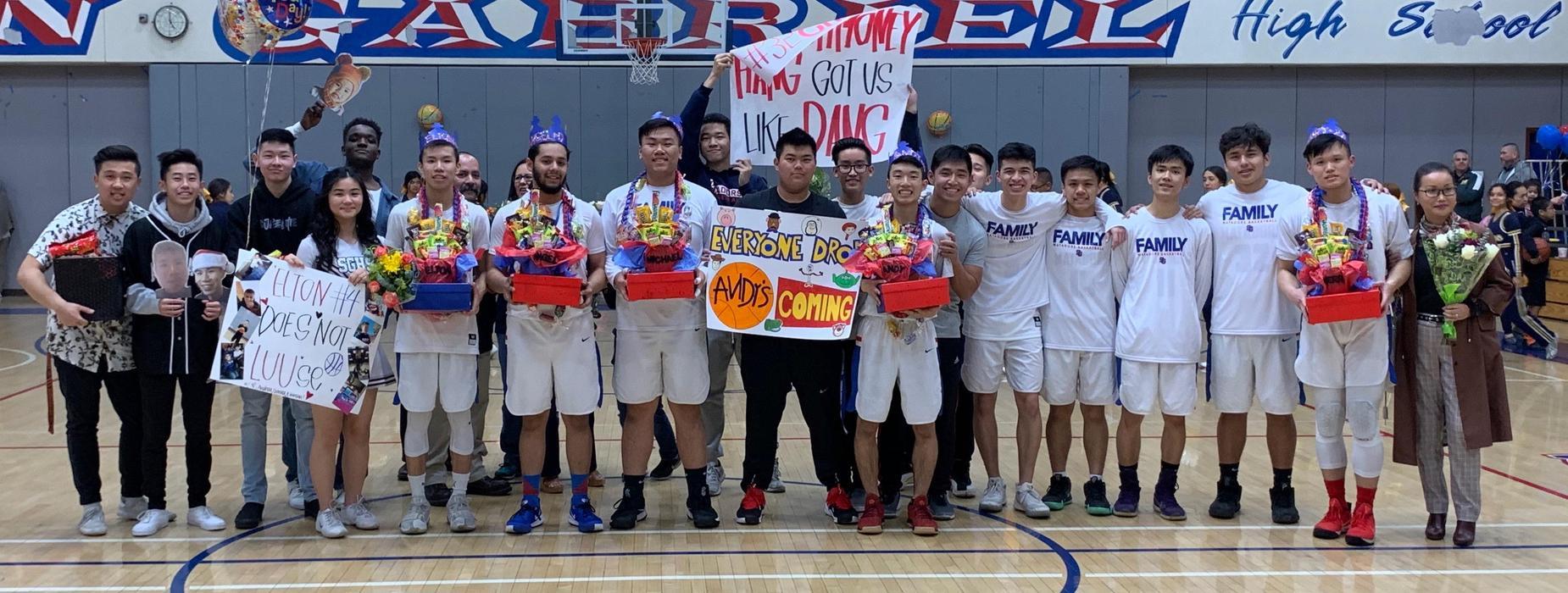 Matador Baskeball Team with Friends and Family