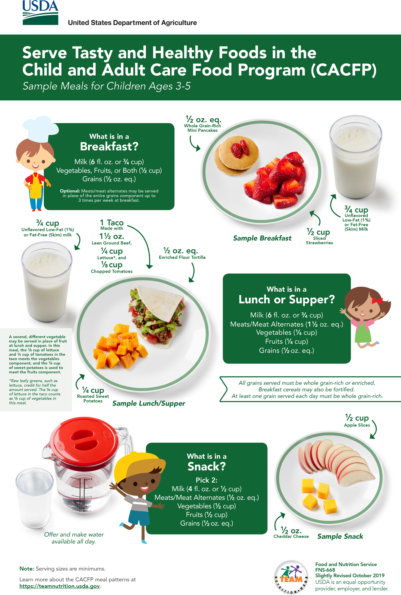 CACFP Meals