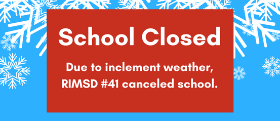 School closed graphic
