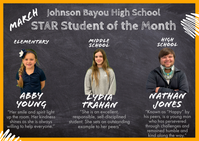MARCH STAR STUDENTS! Thumbnail Image