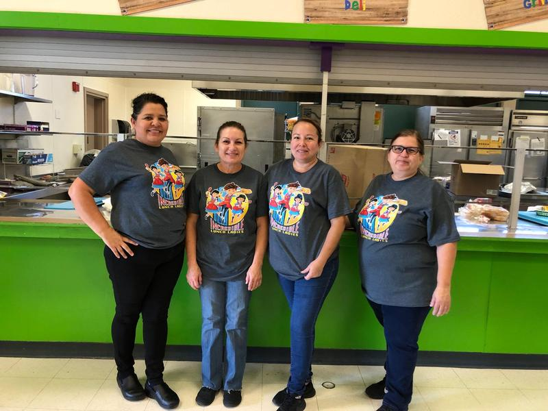 Dahl's Incredible Lunch Ladies: Nena, Beatriz, Karina, and Josephine.