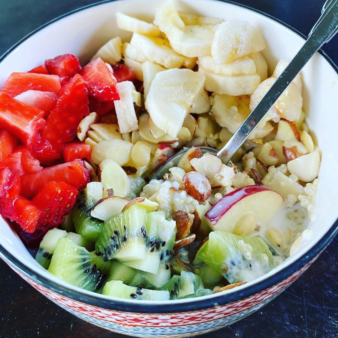 quinoa fruit bowl