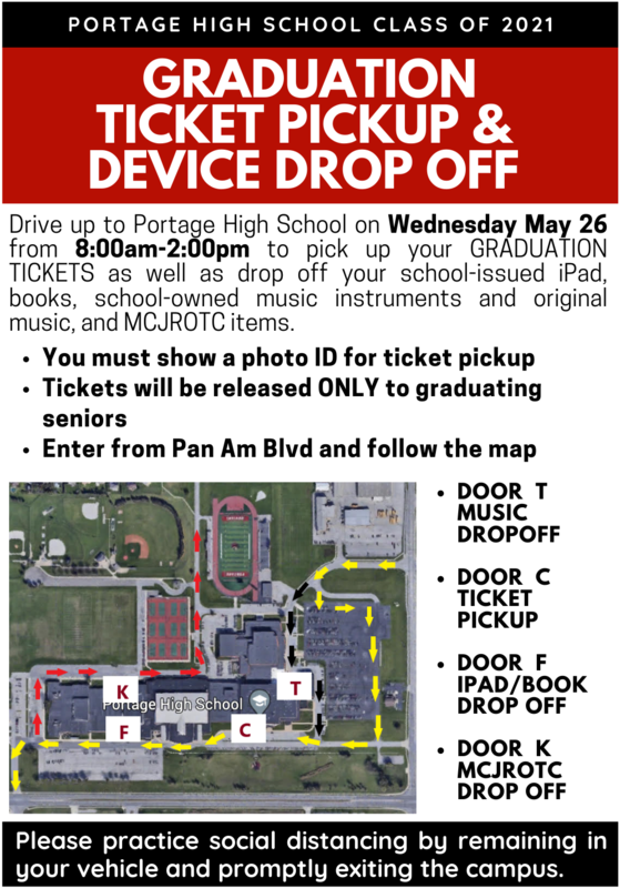 2021 graduation ticket pickup info