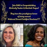 Congratulations to Kimberly Eubanks Foster & Machiah T. Fuqua! National Board Certified Teachers!!! #gobucks