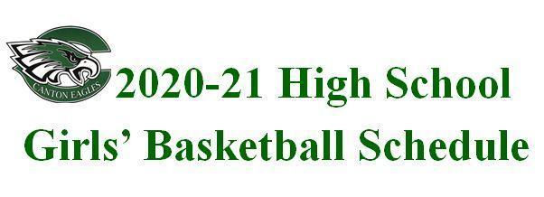 High School Girls' Basketball Schedule