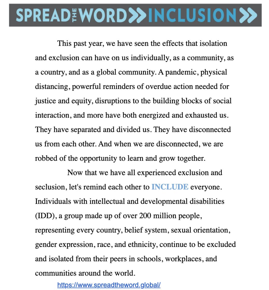 Inclusion Posting