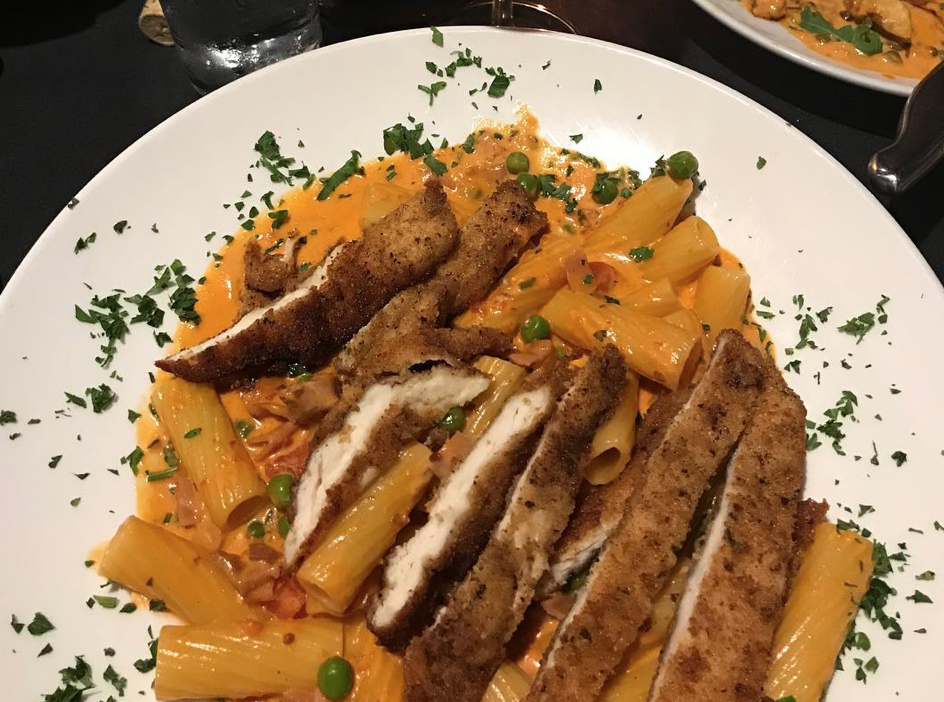 The June's rigatoni dish at casaldi's cucina restaurant