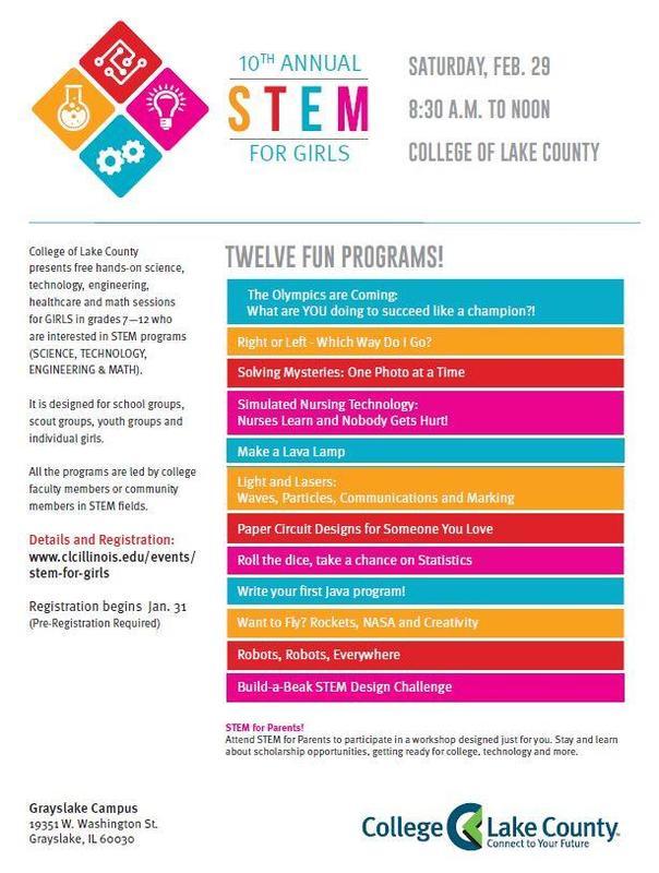 STEM for Girls Flyer