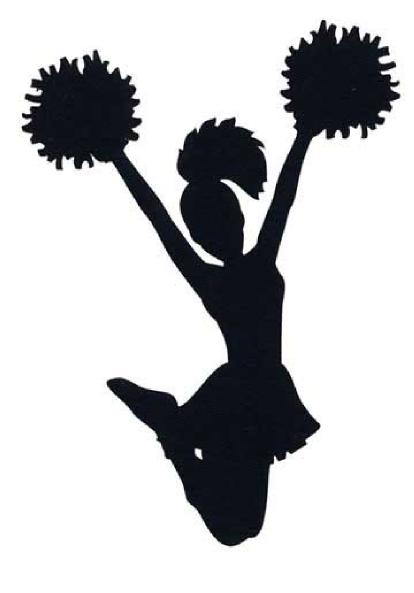 clipart of cheerleader