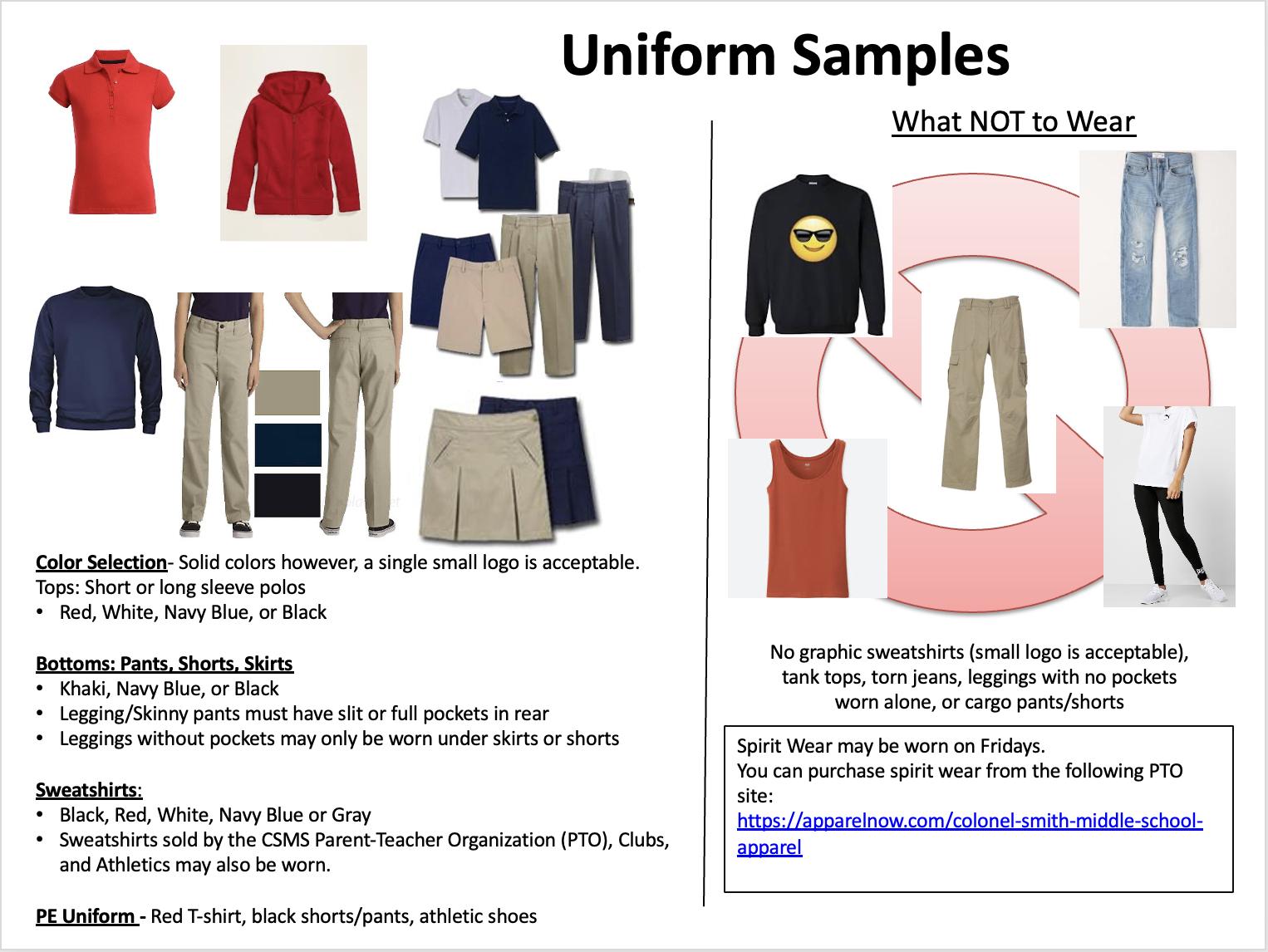 Sample Uniforms