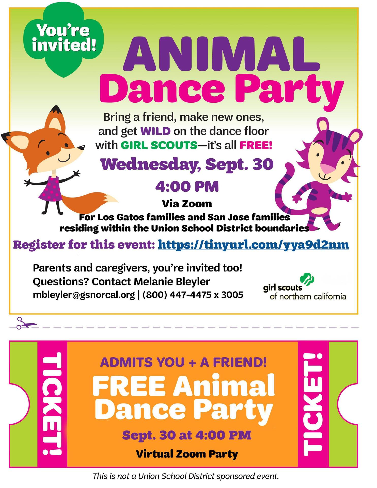 Girl Scouts_Animal Dance Party