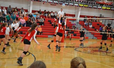 Varsity Volleyball vs. Lutheran Westland.