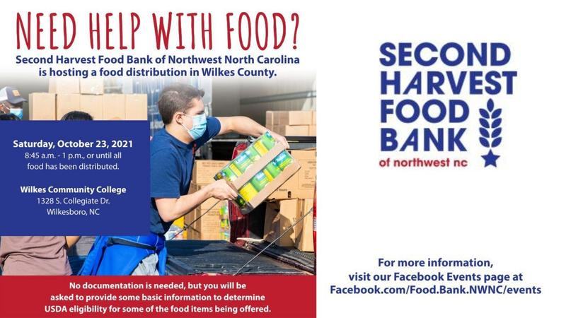 Wilkes County Second Harvest Food Bank Announcement