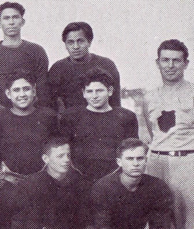 Morris Struman (center of photo) Football team
